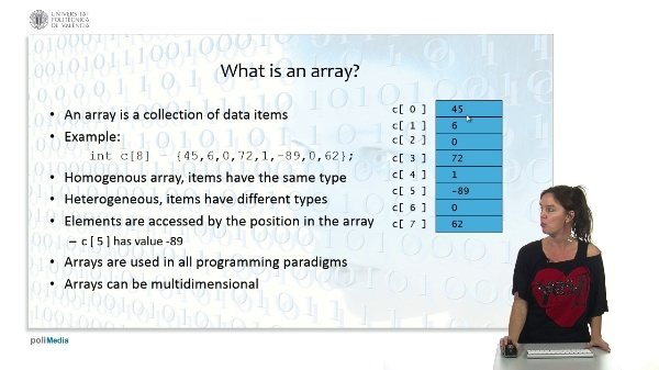 Objects and data structures: Multidimensional arrays
