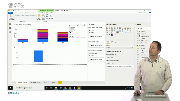 MOOC Power BI. Conexión segmentación de datos (slicers) en visualización