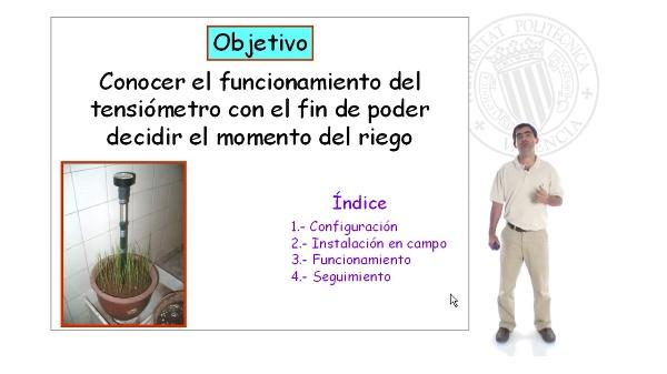 Características y manejo de tensiómetros