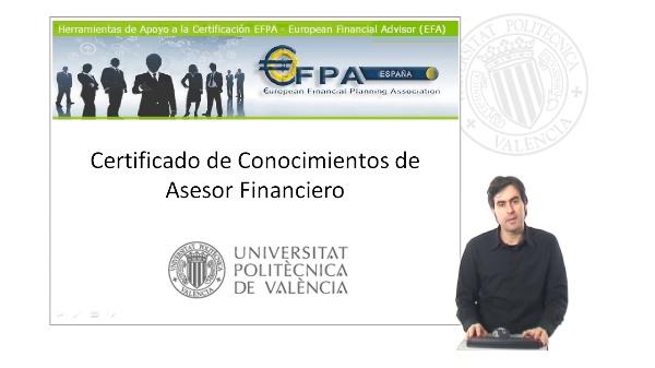 Presentación del Certificado de Conocimientos de Asesor Financiero de la UPV
