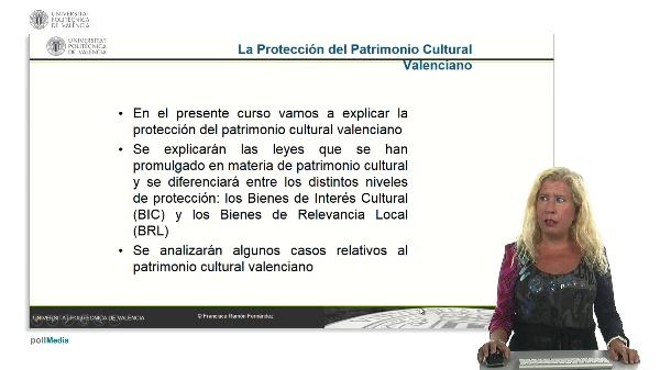 Presentación del curso Protección del patrimonio cultural valenciano.