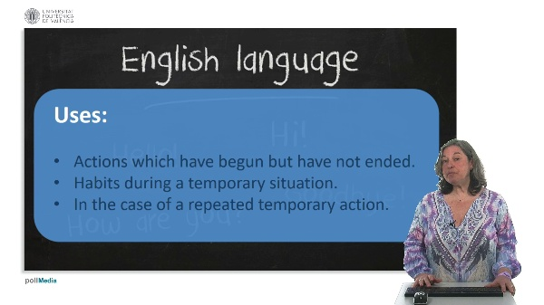 Use of English. Present continuous