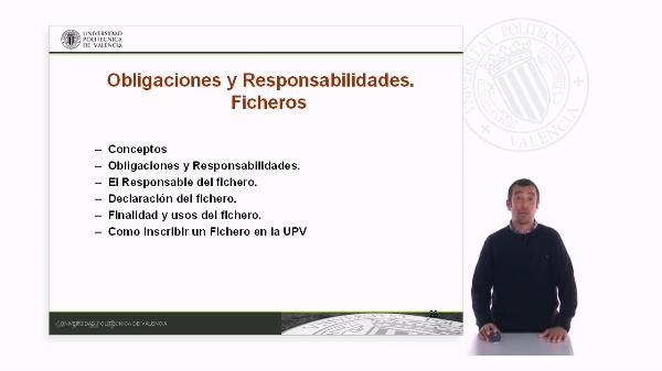 Obligaciones y Responsabilidades. Ficheros