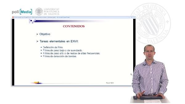 Introducción a las herramientas básicas de ENVI: Aplicación de filtros