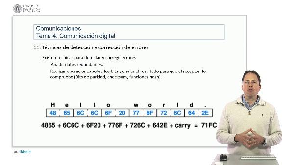 Introducción a las radiocomunicaciones. Detección de errores en comunicación digital