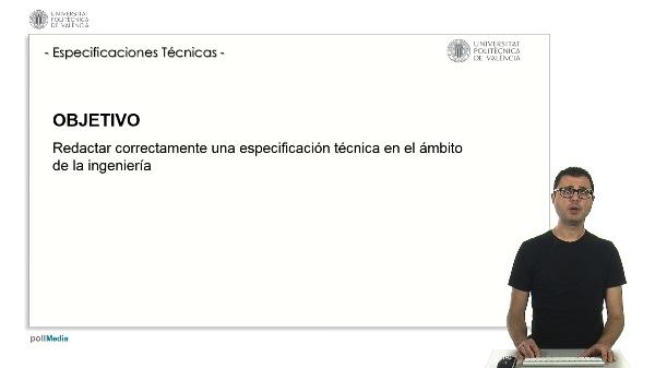 Redacción de ESPECIFICACIONES TÉCNICAS.