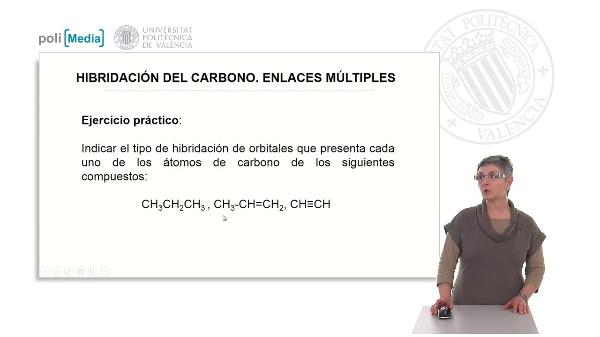 Hibridación del carbono. Formación de enlaces múltiples (ejercicio práctico)