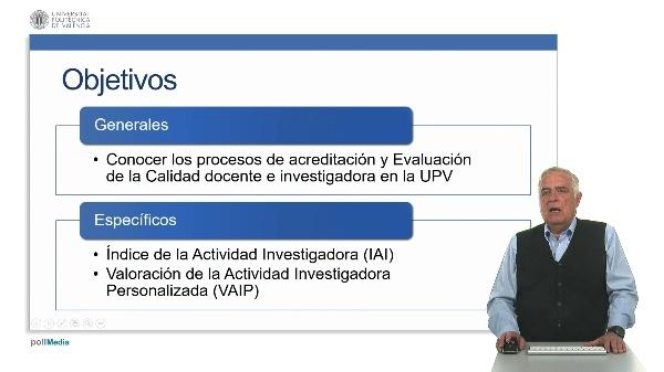 Índice de la actividad investigadora en la UPV.