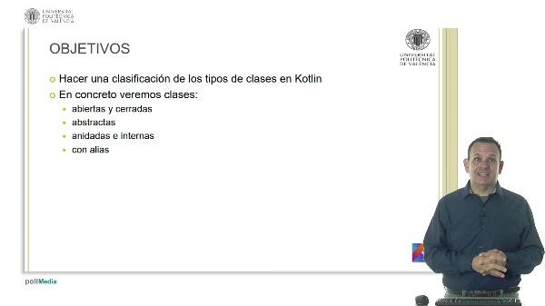 Tipos de clases en Kotlin: abiertas, abstractas, internas y con alias