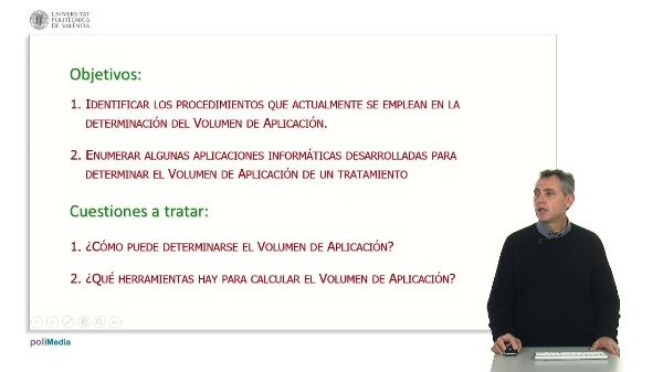 DETERMINACIÓN DEL VOLUMEN DE APLICACIÓN