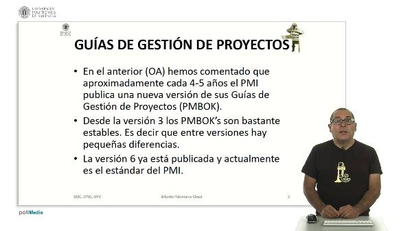 Diferencias en los mapas de procesos entre versiones del PMBOK