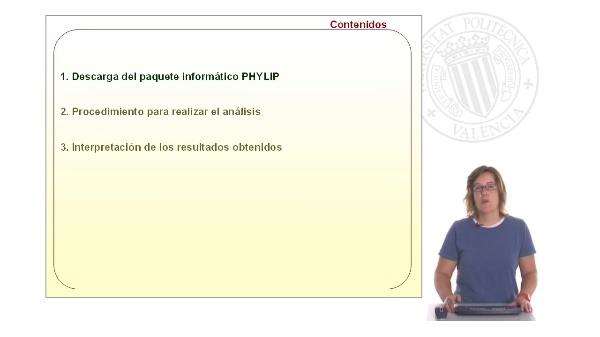 Utilización del paquete informático PHYLIP para la realización de análisis de agrupamientos