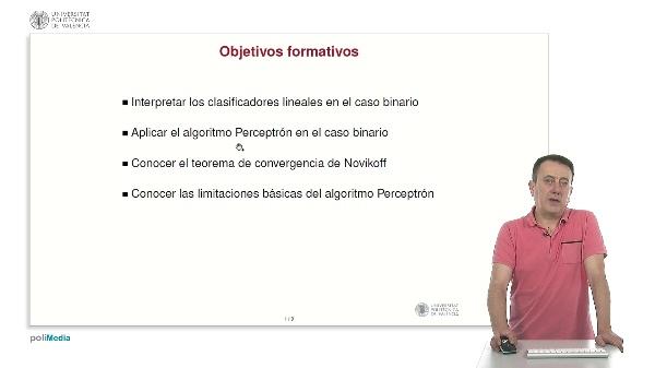 Algoritmo Perceptrón para clasificación binaria