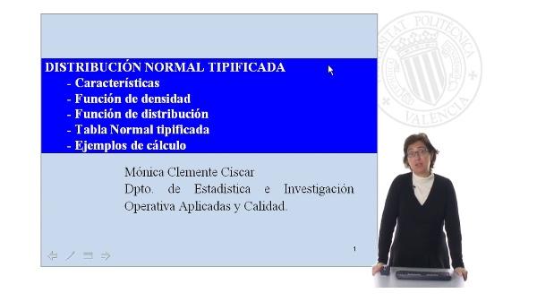 Distribución Normal Tipificada