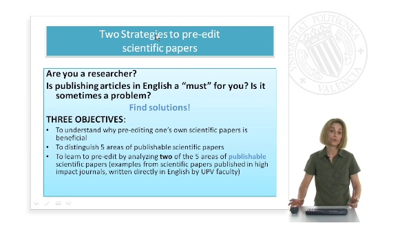 Two strategies to pre-edit scientific papers
