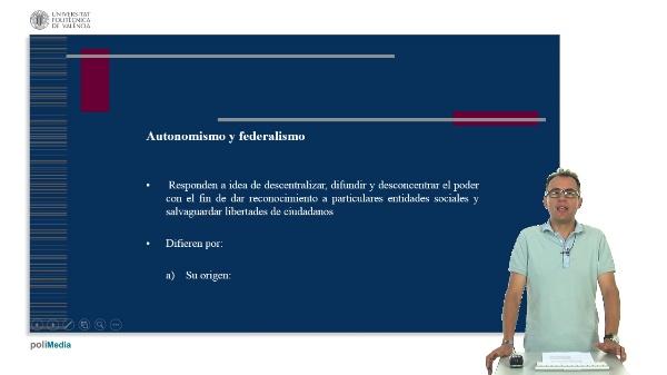 Unidad didactica 6. Autonomismo, federalismo y nacionalismo
