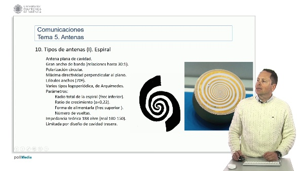 Introducción a las radiocomunicaciones. Antena espiral