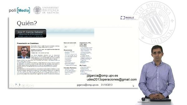 Introducción al curso de Dirección de Operaciones UDES 2013