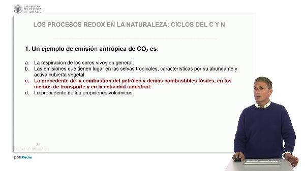 Los procesos redox en la naturaleza: Ciclos de C y N. Soluciones