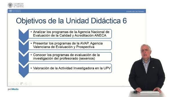 Unidad 6. Agencias de Acreditación y Evaluación