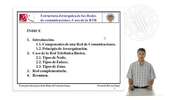 Estructura Jerárquica de las Redes de comunicaciones. Caso de la RTB