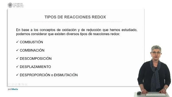 Tipo de reacciones redox