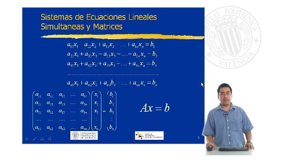 Sistemas de Ecuaciones Lineales Simultáneas y Matrices