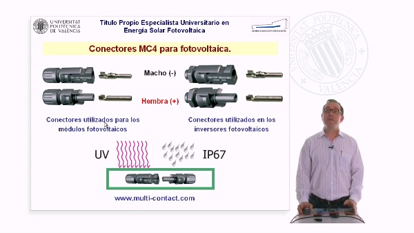 Montaje de los conectores MC4 de Multi-Contact