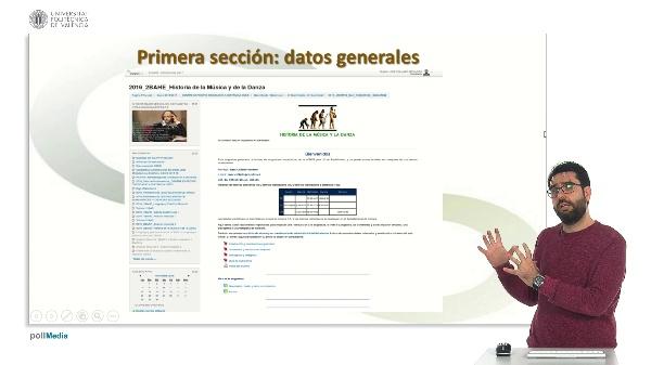 Presentación del aula virtual