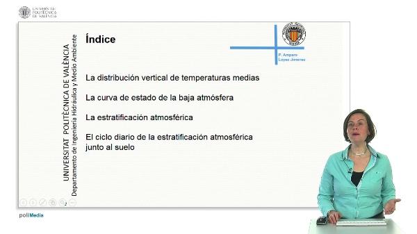 Distribución de temperaturas verticales en la atmósfera y estratificación.