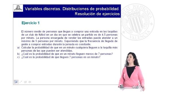 Variables discretas.Distribuciones de probabilidad.Ejercicio 1