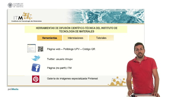 Herramientas de difusion cientitico-tecnica del Instituto de Tecnologia de Materiales