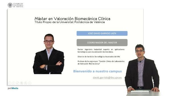 Presentación de Master en valoración biomecánica clínica