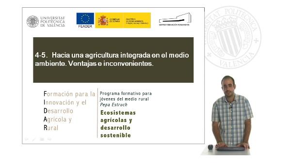 Unidad 4.5 Hacia una agricultura integrada en el medio ambiente. Ventajas e inconvenientes