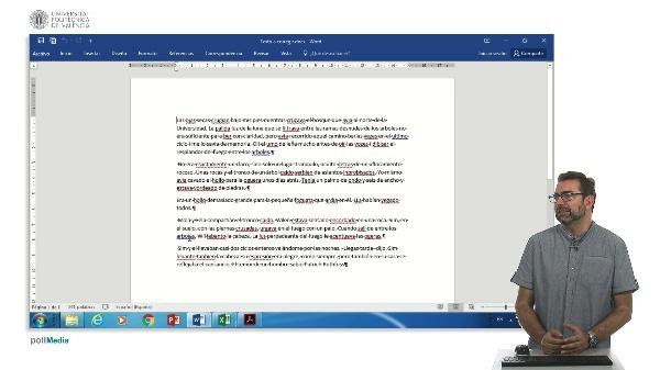 Ejercicio ortografía Word 2016