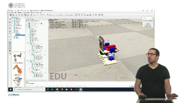 CoppeliaSim (V-REP): Creando robot bPED (Paso 5).