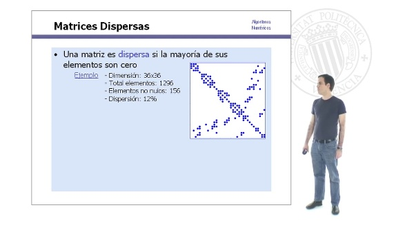 Estructuras de Datos para Matrices Dispersas