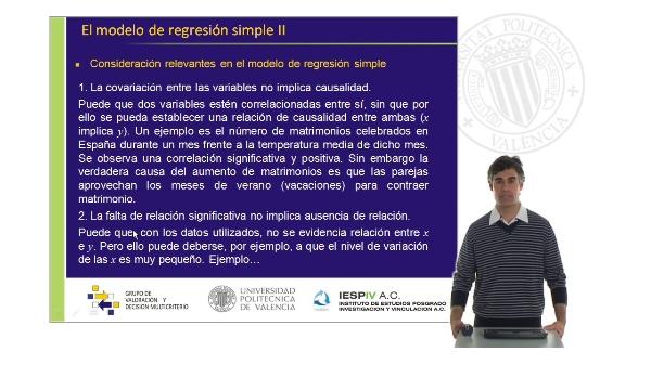 El modelo de regresión simple IV