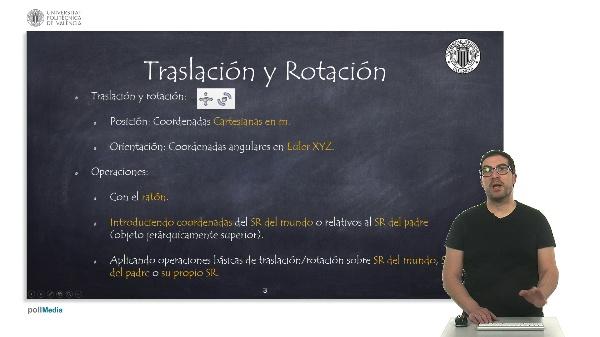 CoppeliaSim (V-REP): Traslación y Rotación.