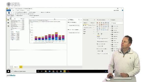 MOOC Power BI. Visualización. Panel de selección y agrupación de visualizaciones