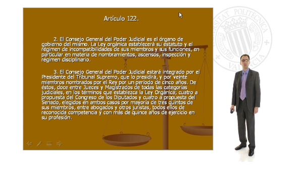 La composición del Consejo General del Poder Judicial