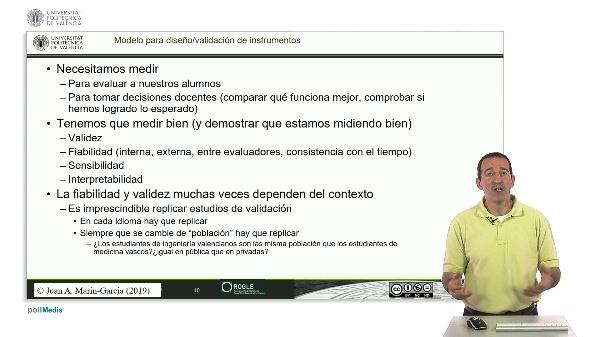 Aspectos relevantes de un protocolo de Validación de Instrumento de Medida