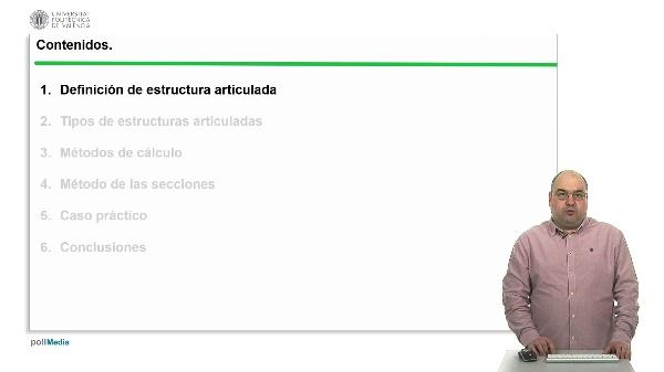 Estructuras articuladas: Cálculo de esfuerzos mediante el método de secciones.