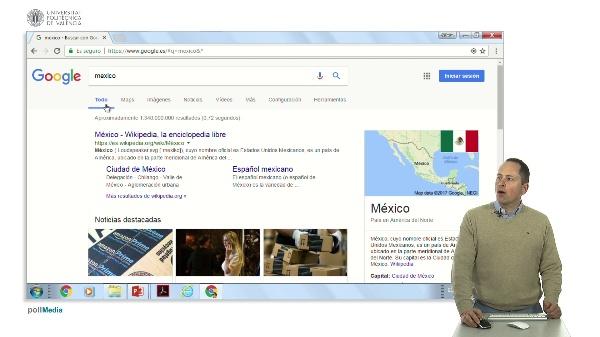 Buscar en Internet. La barra superior de Google