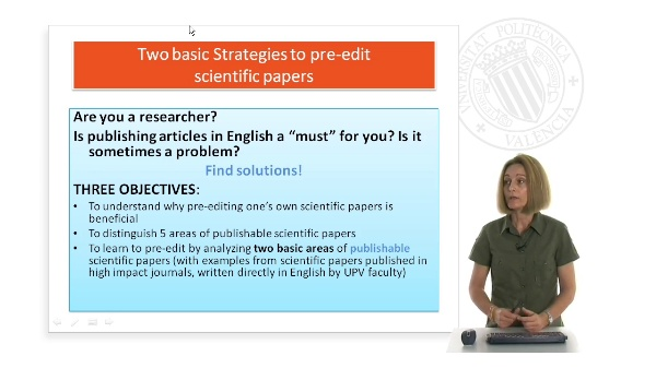 Two basic Strategies to pre-edit scientific papers