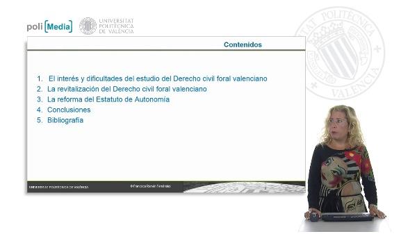 El Derecho civil foral valenciano y su recuperación