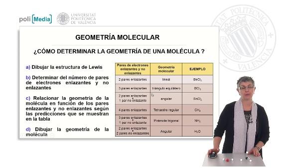Geometría molecular. Ejercicio práctico