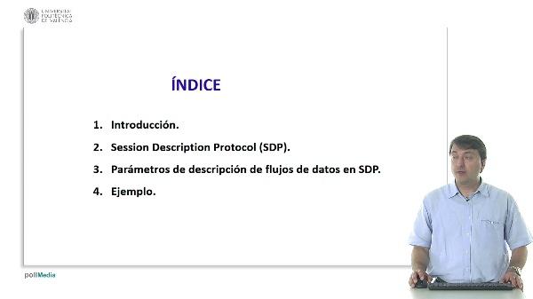 Parámetros de descripción de flujos de datos utilizados en el protocolo SDP