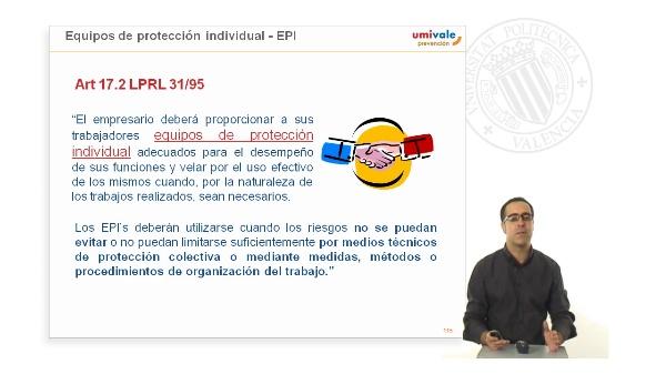 Equipos de protección individual - EPI's