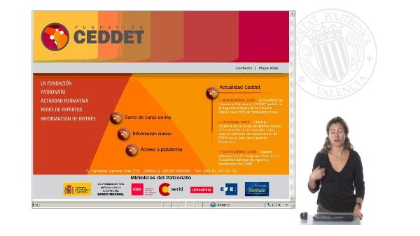 Presentación audiovisual cursos CEDDET